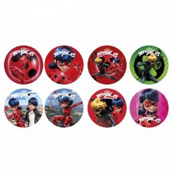 16 Mini disques en sucre Ladybug