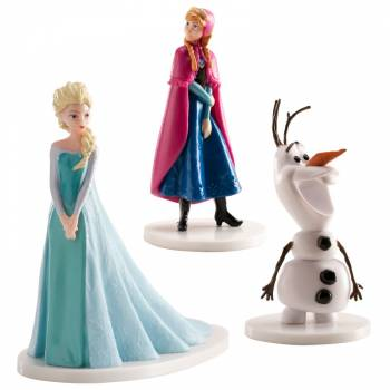 Kit figurines Anna Elsa Olaf PVC