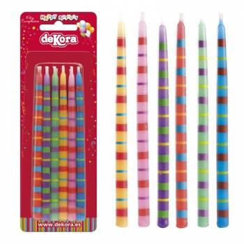 12 Bougies sticks Funny 13 cm