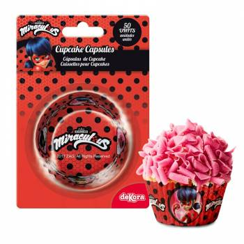 50 Caissettes cupcakes Miraculous