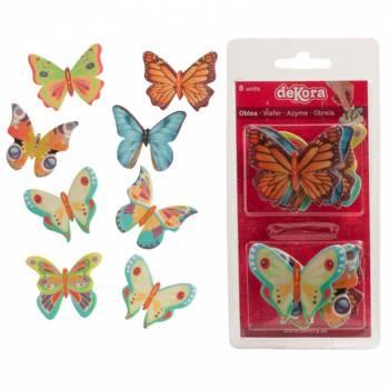 8 Papillons en azyme