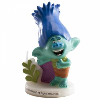 Bougie personnage Branch 3D Trolls