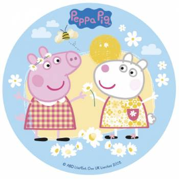 Photo comestible 16 cm Peppa Pig