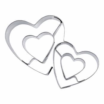 Emporte pièce Double coeur