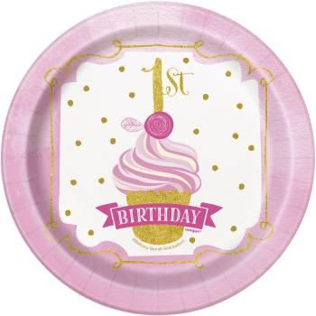 8 Assiettes dessert 1 an HB Princesse