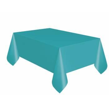 Nappe jetable plastique turquoise