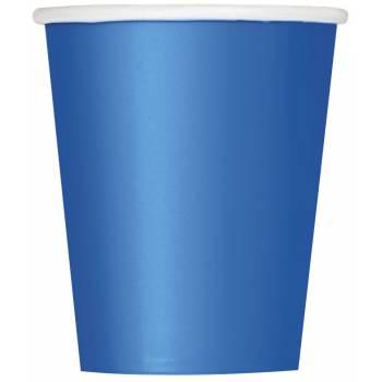 Gobelets carton bleu royal