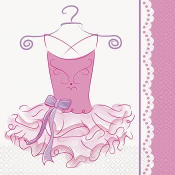 16 Serviettes Ballerine