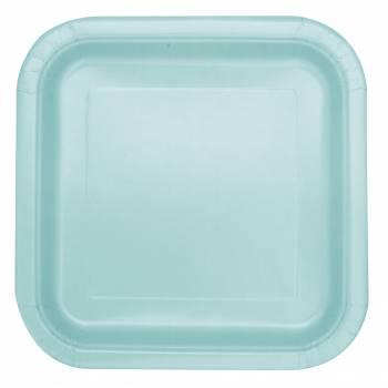 14 Assiettes carrée mint