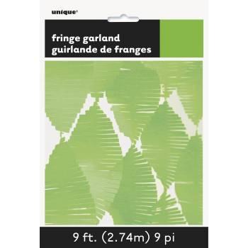 Guirlande frange vert anis