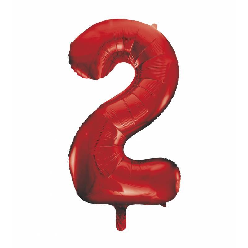 ballon h lium g ant chiffre 2 rouge. Black Bedroom Furniture Sets. Home Design Ideas