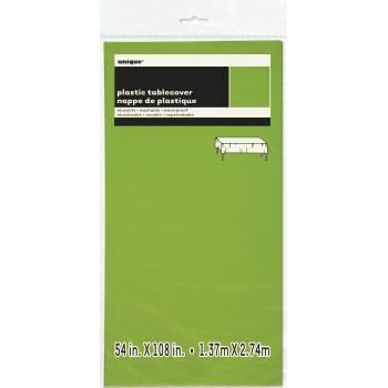 Nappe en plastique fluo verte
