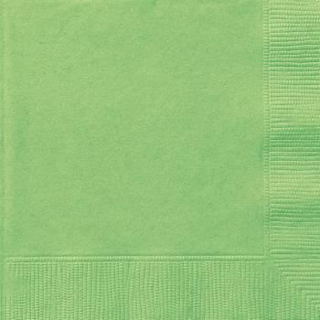Serviettes jetables papier vert lime
