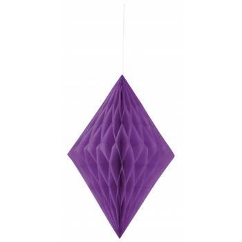 décors à suspendre diamant papier parme