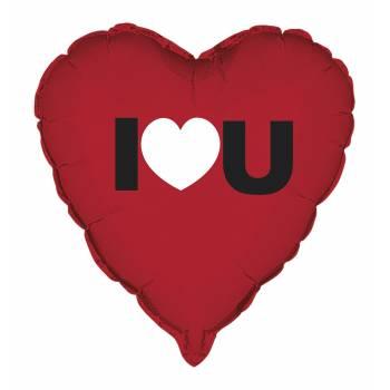 Ballon hélium Coeur I LOVE YOU