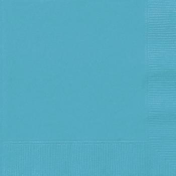 Serviettes jetables papier bleu caraïbe