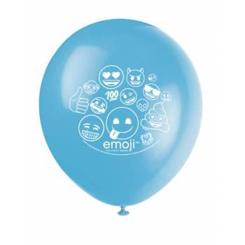 8 Ballons latex emoji