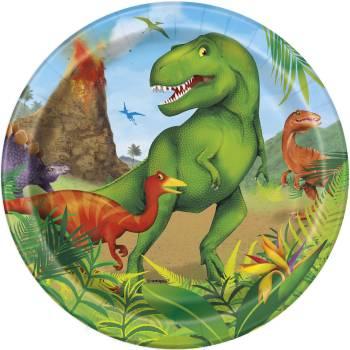 8 Assiettes dessert Dinosaure