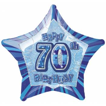Ballon Star Bleu 70 ans