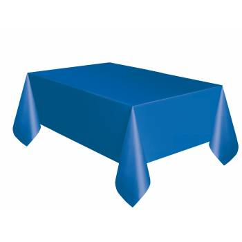Nappe jetable plastique bleu royal