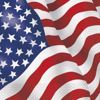 16 Serviettes USA