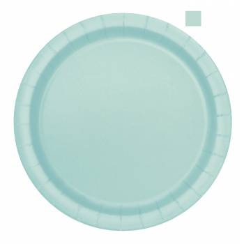 14 Assiettes ronde mint