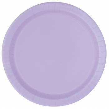 Assiettes carton jetables rondes lavande