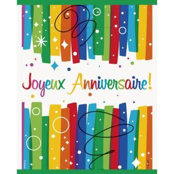 8 Sachets de fête Joyeux anniversaire rainbow