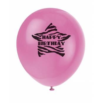 8 ballons zebra passion