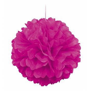 décors à suspendre froufrou papier fluo rose