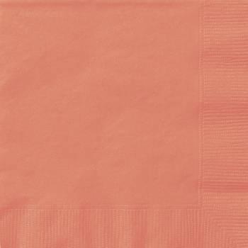 Serviettes jetables papier corail