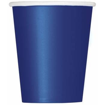 Gobelets carton bleu marine