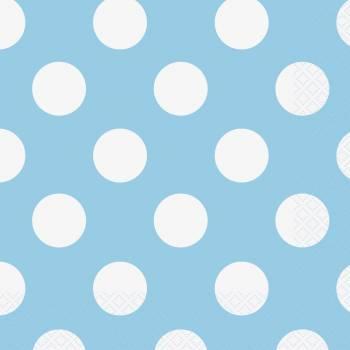 Serviettes jetables à pois bleu clair
