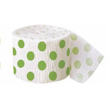guirlande papier cr pon pois vert deco anniversaire. Black Bedroom Furniture Sets. Home Design Ideas