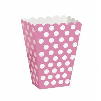 8 Boites pop corn pois rose