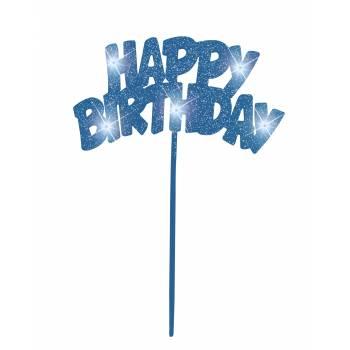 Décor lumineux Happy Birthday bleu