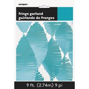 Guirlande frange turquoise