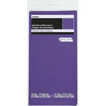 Nappe jetable plastique violette fluo