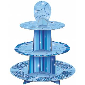 Présentoir a gateaux blue personnalisable