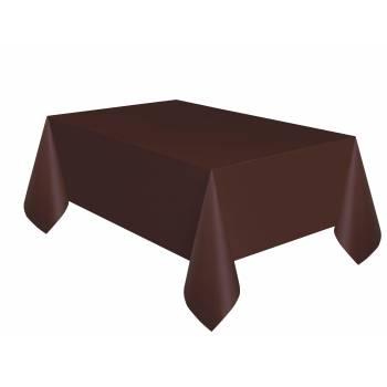Nappe jetable plastique chocolat