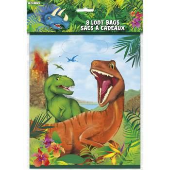 8 Sachets de fête Dinosaure