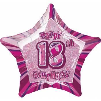 Ballon Star Pink 18 ans