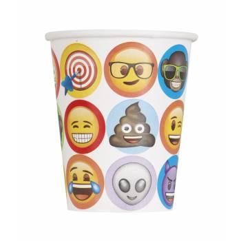 8 Gobelets thème Emoji
