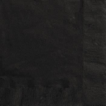 Serviettes jetables papier noire