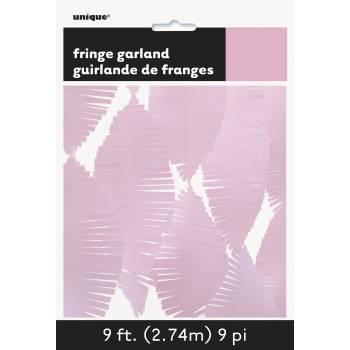 Guirlande frange rose