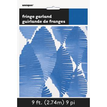 Guirlande frange bleu