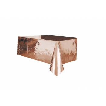 Nappe jetable plastique gold rose