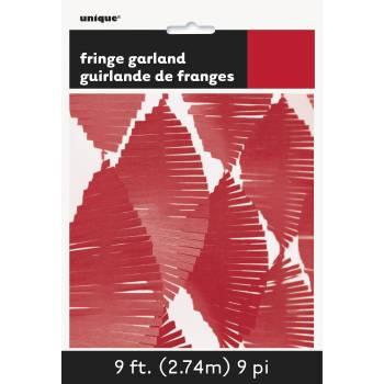 Guirlande frange rouge