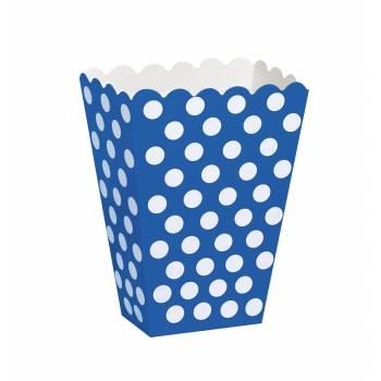 8 Boîtes Pop Corn pois bleu