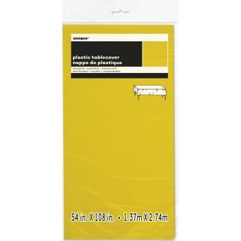 Nappe en plastique fluo jaune